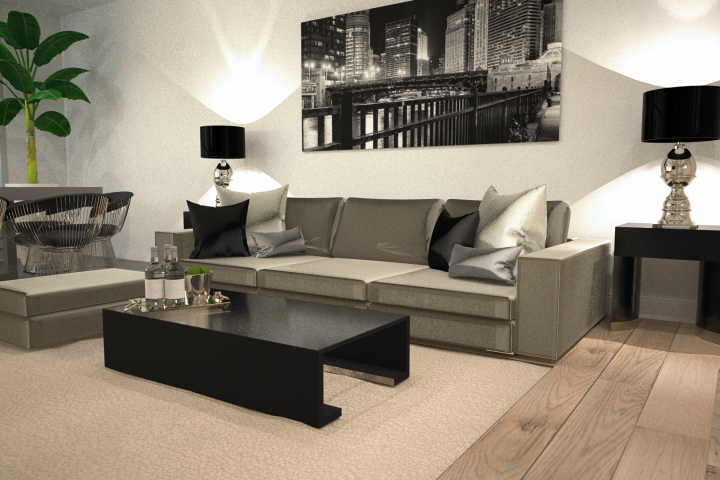 Outrance Interiors 3D studio render